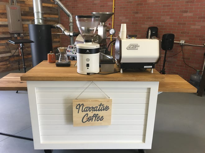 Narrative Coffee Roasters now serves its locally roasted beans from its new mobile coffee cart.
