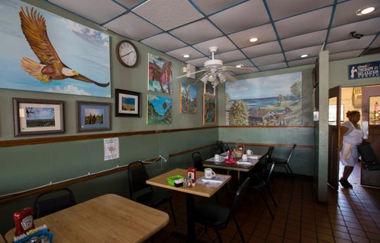 """A view inside Annie's Restaurant in Cape Coral. Anne Herbert founded and owned Annie's Restaurant for 30 years until her death in January at 78. Now cousins Ron Demuro and Steven """"Bubba"""" DeMuro, from New Jersey, have bought the place, locally famous for its plate-sized pancakes."""