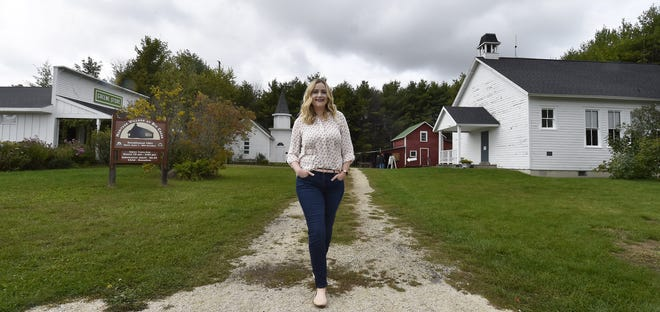Bailey Koepselis the new executive director of the Door County Historical Society. She is photographed at the society's Heritage Village at Big Creek, Sturgeon Bay.