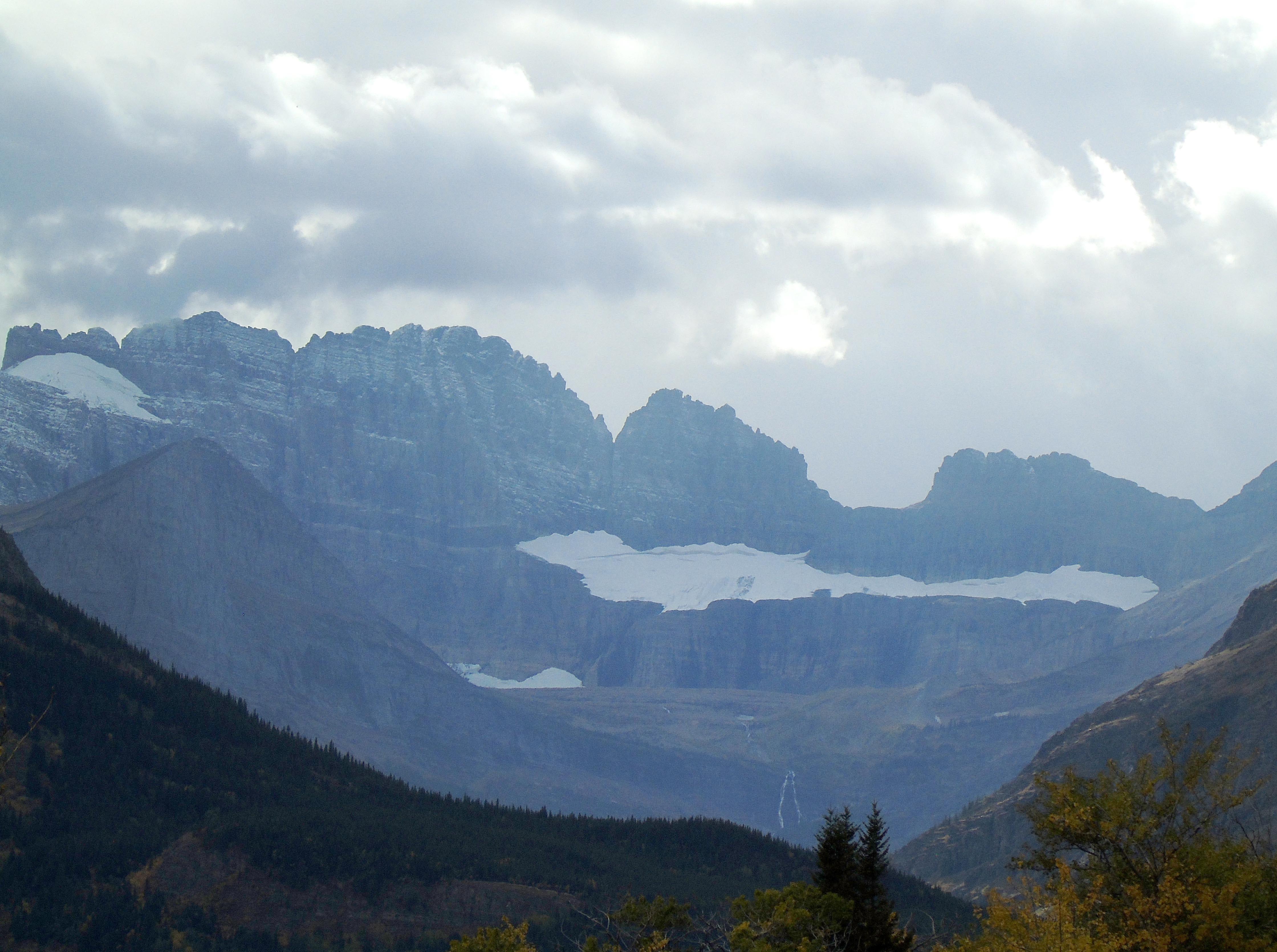 Fall colors in Many Glacier in Glacier National Park in late September.