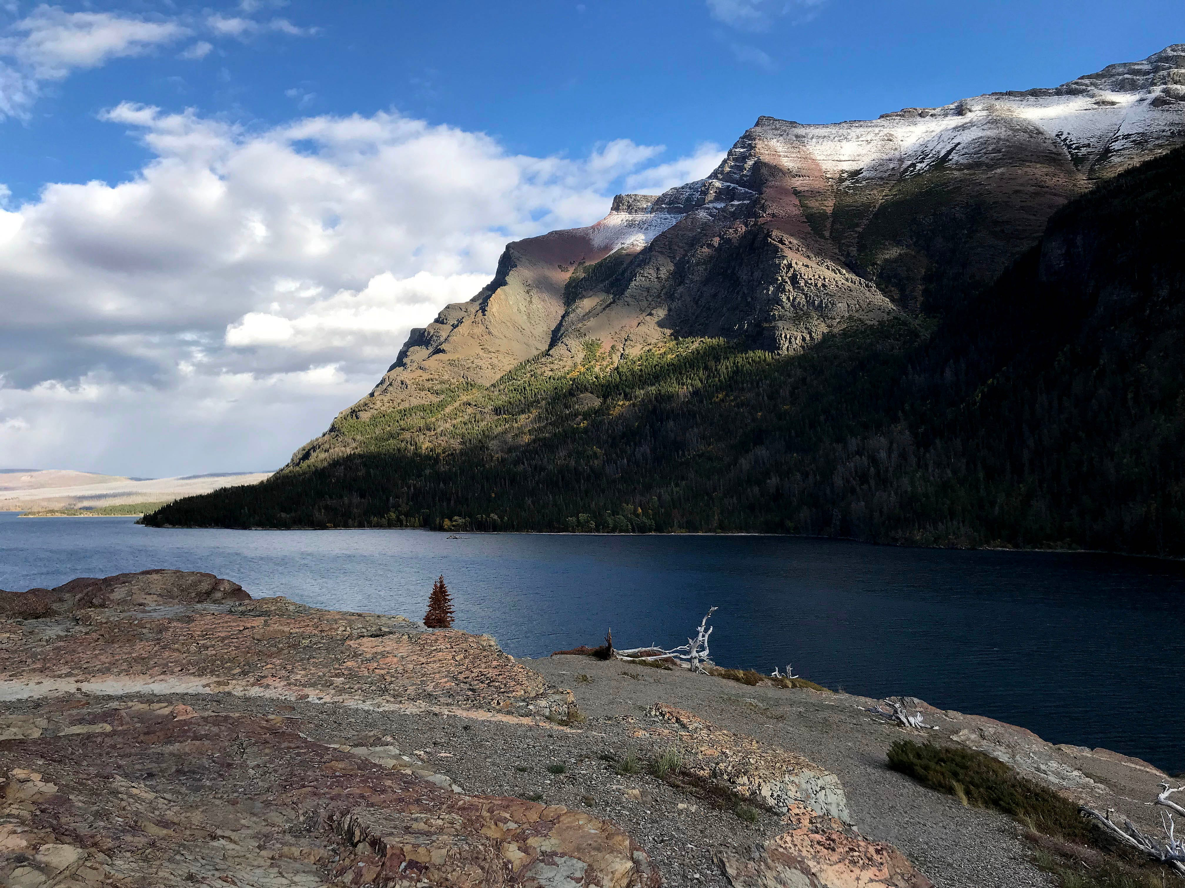 St. Mary Lake in mid-September in Glacier National Park