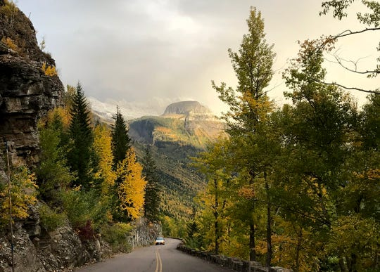 Fall view from Going-to-the-Sun Road in Glacier National Park