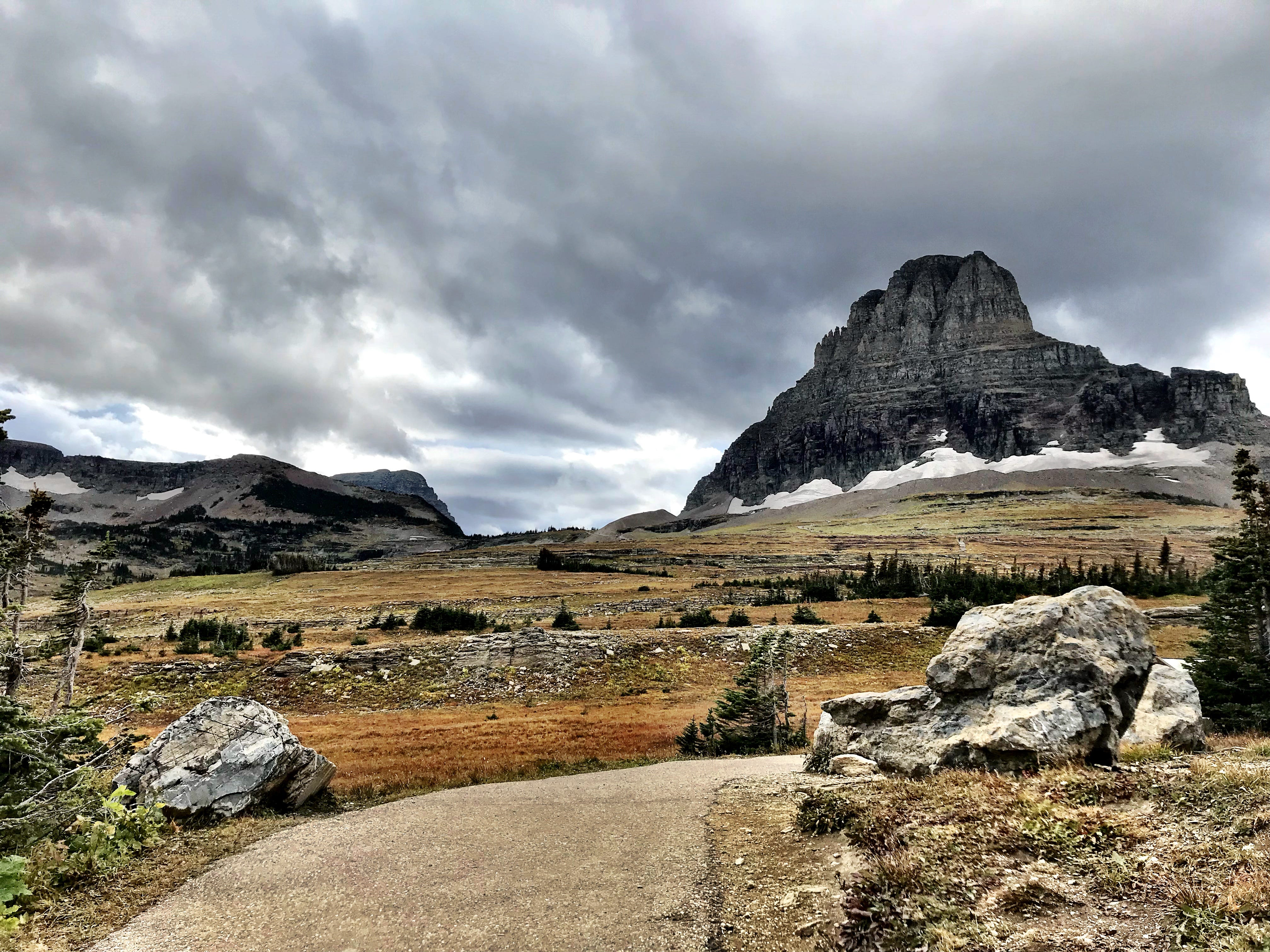 Logan Pass in mid-September in Glacier National Park