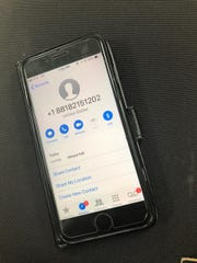 A call from a suspicious number was received on a cellphone on Guam.