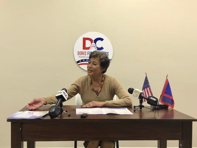 Doris Flores Brooks, Republican candidate for delegate, said she won't rest until the federal government pays for war reparations to residents who survived World War II. Brooks held a press conference on Monday Oct. 1, at the Republican Party of Guam headquarters in Tamuning.