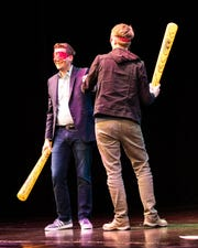 Author Hank Green and special guest John Green tour in support of Hank's debut novel 'An Absolutely Remarkable Thing,' at the Clowes Memorial Hall on Sept. 30, 2018. The brothers talked about Hank's book, answered audience questions, and performed live music.
