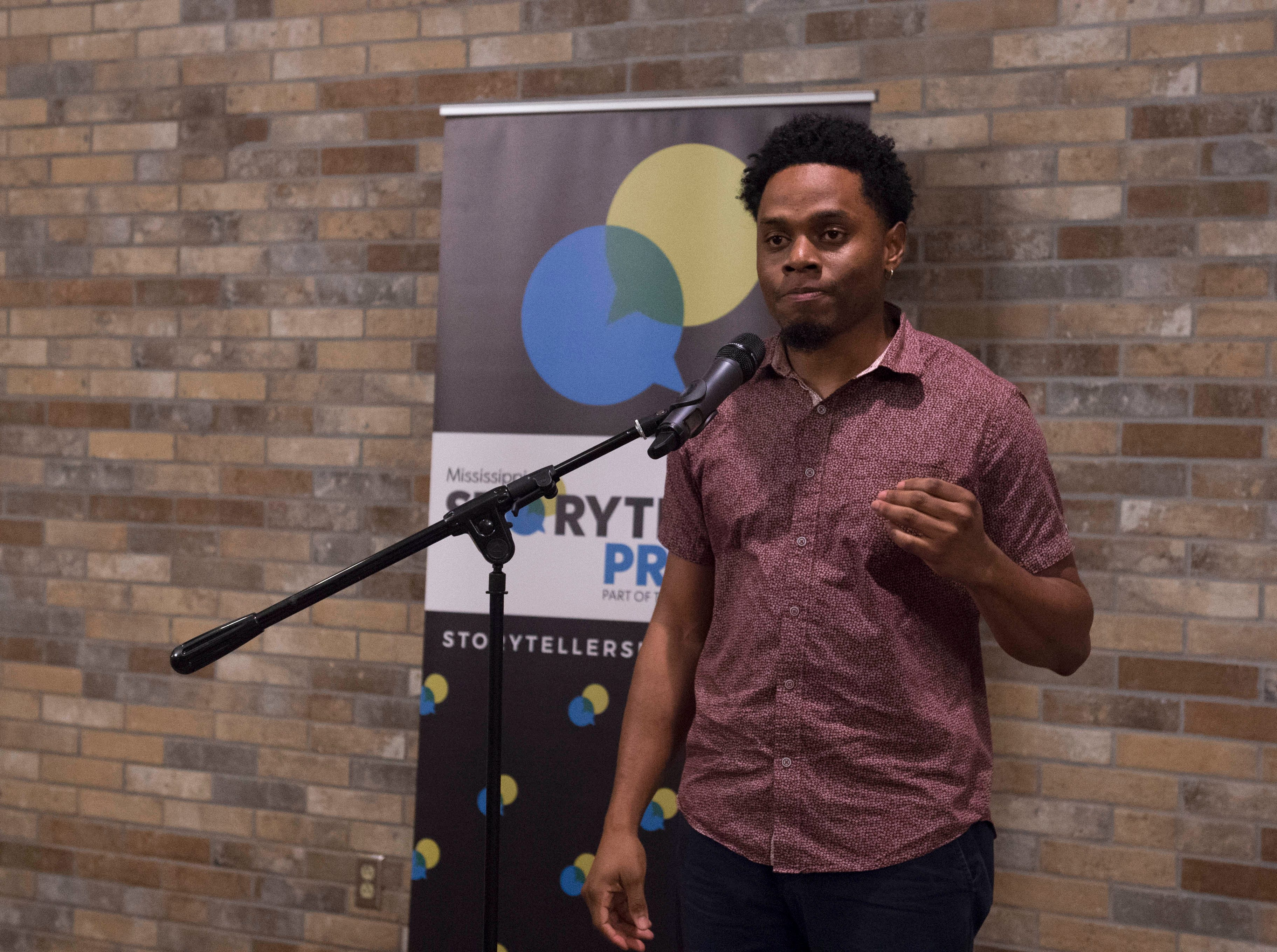 Mississippi Storytellers: Growing Up speaker Anthony McDougle shares how being stuck in the middle of nowhere and a little tough love can change your life. Tuesday, Sept. 2018.