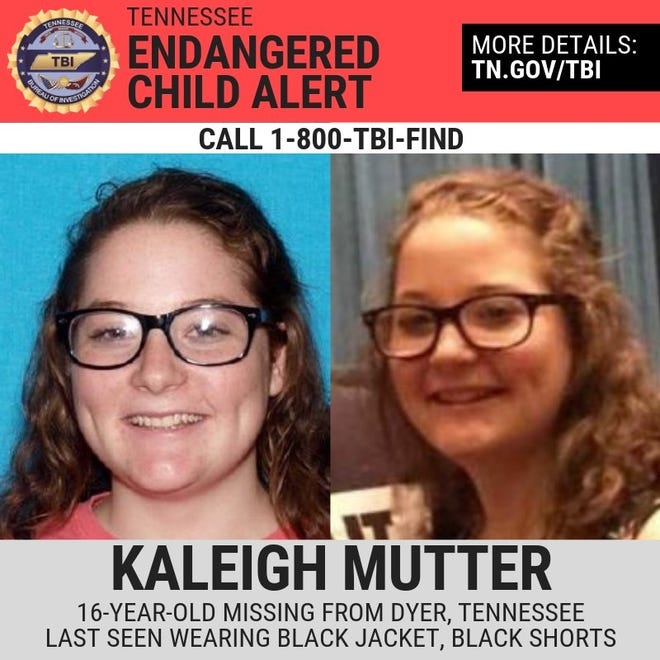 Kaleigh Mutter, 16, was last seen at her home in Gibson County Sunday.