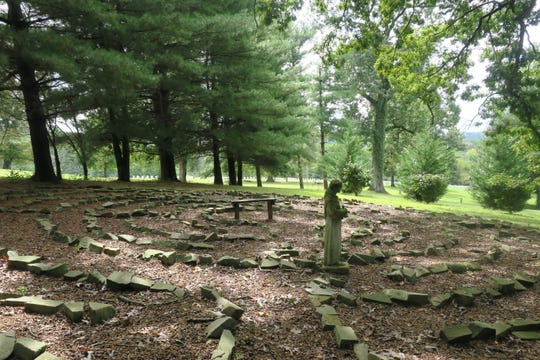 The Episcopal Church of the Ascension's labyrinth sits atop a wooded hill behind the West Knoxville church.