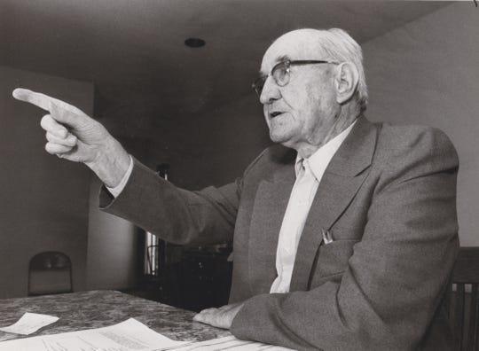 Cas Walker in 1983.