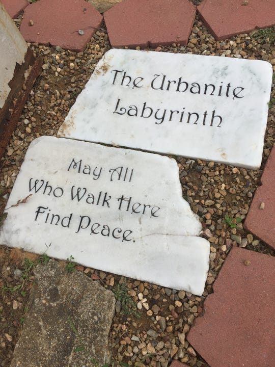 Those who walk Greeneville Middle School's labyrinth are invited to find peace.