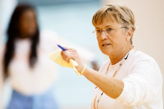 Tennessee coach Holly Warlick directs the Lady Vols' practice Sunday at Pratt Pavilion.