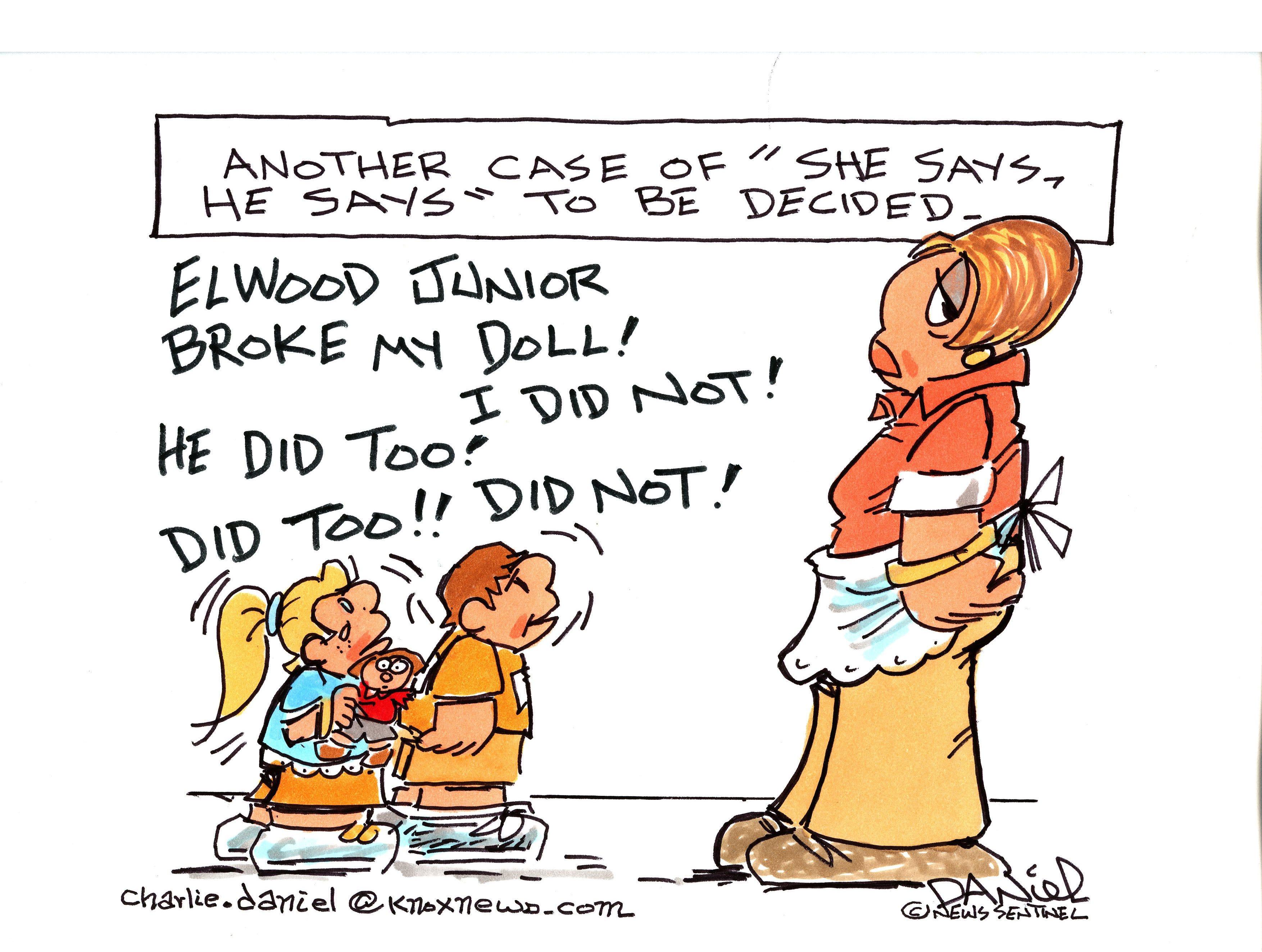 Charlie Daniel editorial cartoon for Tuesday, Oct. 2, 2018