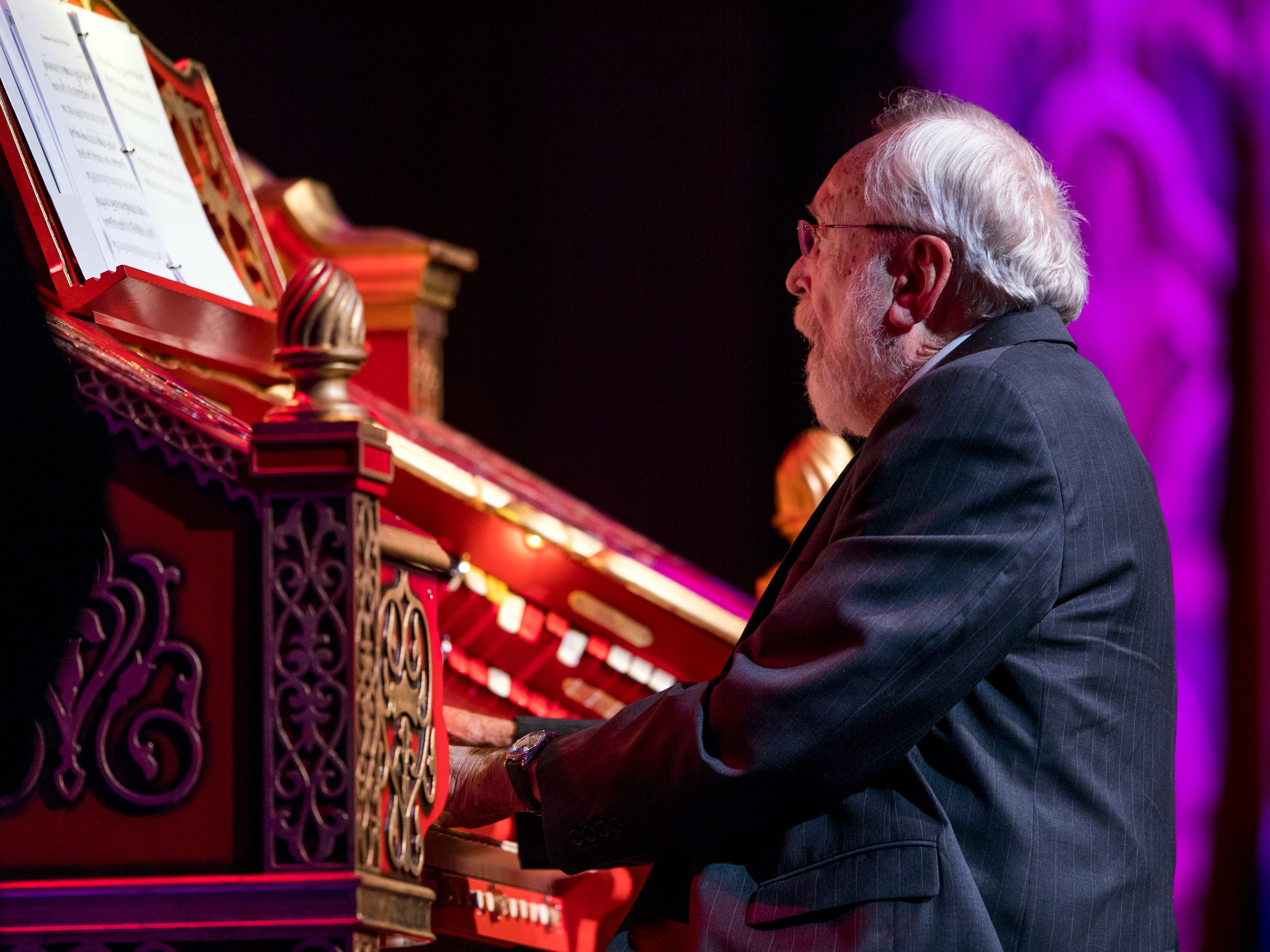 Dr. Bill Snyder plays the Tennessee Waltz on the Mighty Wurlitzer organ for the last time during a special Mighty Musical Monday celebrating Dr. Bill Snyder's retirement at the downtown Knoxville theatre on Monday, October 1, 2018. This particular Mighty Musical Monday also landed on the Tennessee Theatre's 90th anniversary.