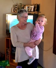 Katherine Mender and her great niece, Emma