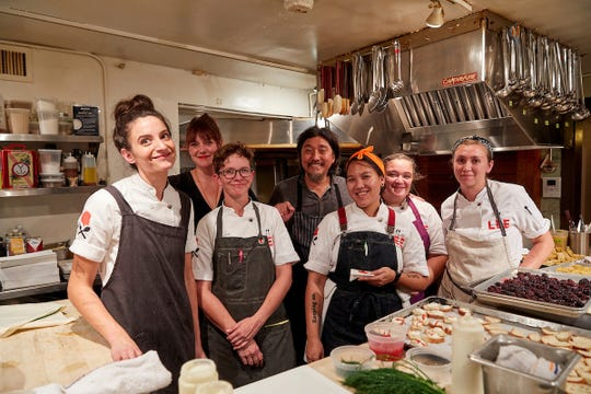 "Five female chefs from Kentucky cooked at the esteemed James Beard House Foundation, in NYC during a ""Pride of Kentucky"" dinner."