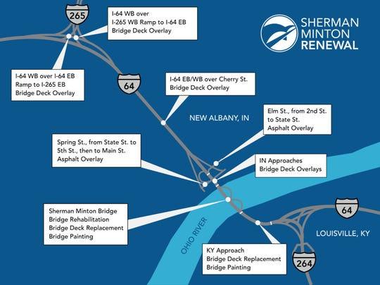 A look at the Sherman Minton Bridge renewal project.