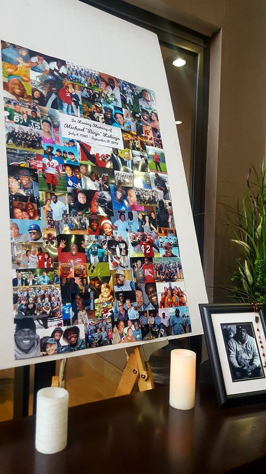 A memorial for Mike Labinjo, a former Michigan State football player, was held last week in Calgary. Labinjo died Sept. 21 in Calgary, Alberta, Cananda.