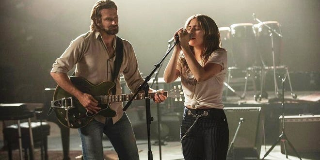 """Following in the footsteps of James Mason and Judy Garland (to cite just one of the earlier versions), it's Bradley Cooper and Lady Gaga in the new """"A Star Is Born."""""""