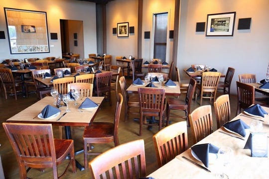 The main dining room at Bounty on Broad.