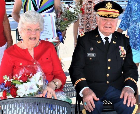 Emily and Herb Savage on Memorial Day in 2016