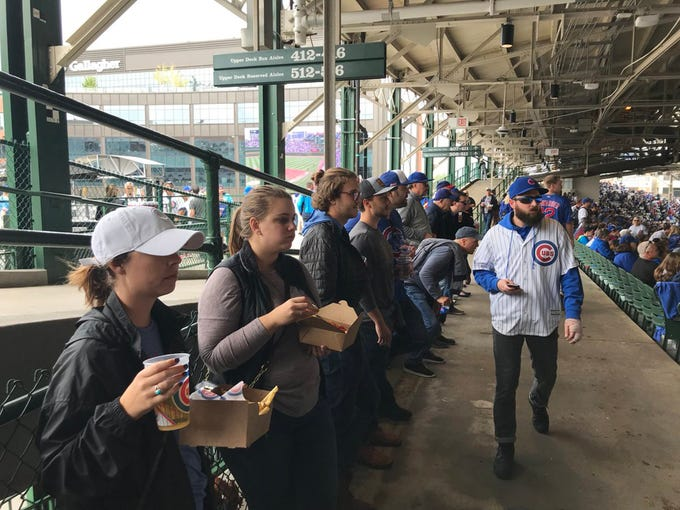 Brewers Fans Traipse Down To Wrigley Field