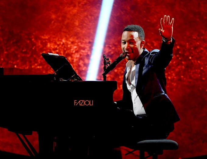 """After completing his EGOT this fall,  John Legend will tour behind a new holiday album, """"A Legendary Christmas,"""" with a stop at the Riverside Theater Dec. 12. Tickets go on sale at 10 a.m. Friday."""