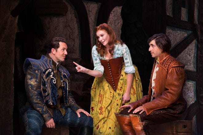 """Matthew Janisse, Emily Kristen Morris and Richard Spitaletta perform in the national touring company of """"Something Rotten!"""" They'll perform Oct. 16 through 21 at Milwaukee's Marcus Center, 929 N. Water St."""