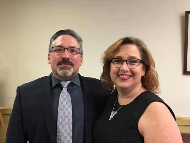 Adam and Lisa Salberg at Superior Court, Morristown