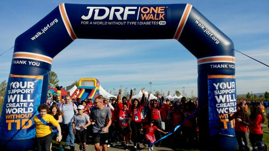 JDRF One Walk, a fundraiser to help type 1 diabetes research, will be held Sunday.