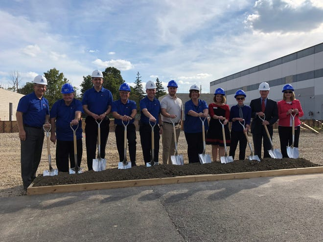 (From left to right) Andy Bowne, Ray Curtis, Jeff Helm, Mayor Dennis Tyler, Chris Cook, Pastor Cole Farlow, Debbie Bennett, Kallie Sulanke, Tricia Stanley, Tom Kinghorn, Kim Sabrosky