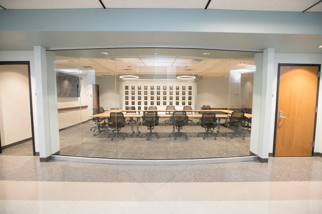 The Molinaro Hall of Fame Conference Room in the Miller College of Business, Ball State University.