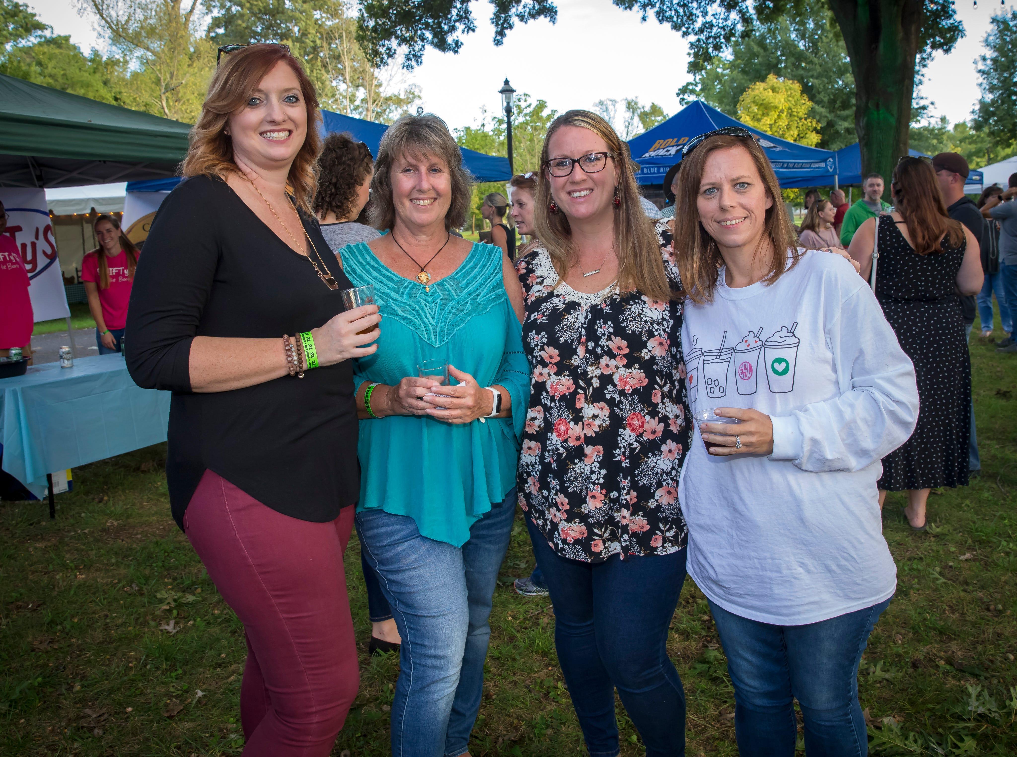 Lauren Stolz, Teri Kleber, Tiffany Huff and Emma Stiltz at the fourth-annual Oktoberfest held at Oaklands Mansion.Jim Davis/for the DNJ