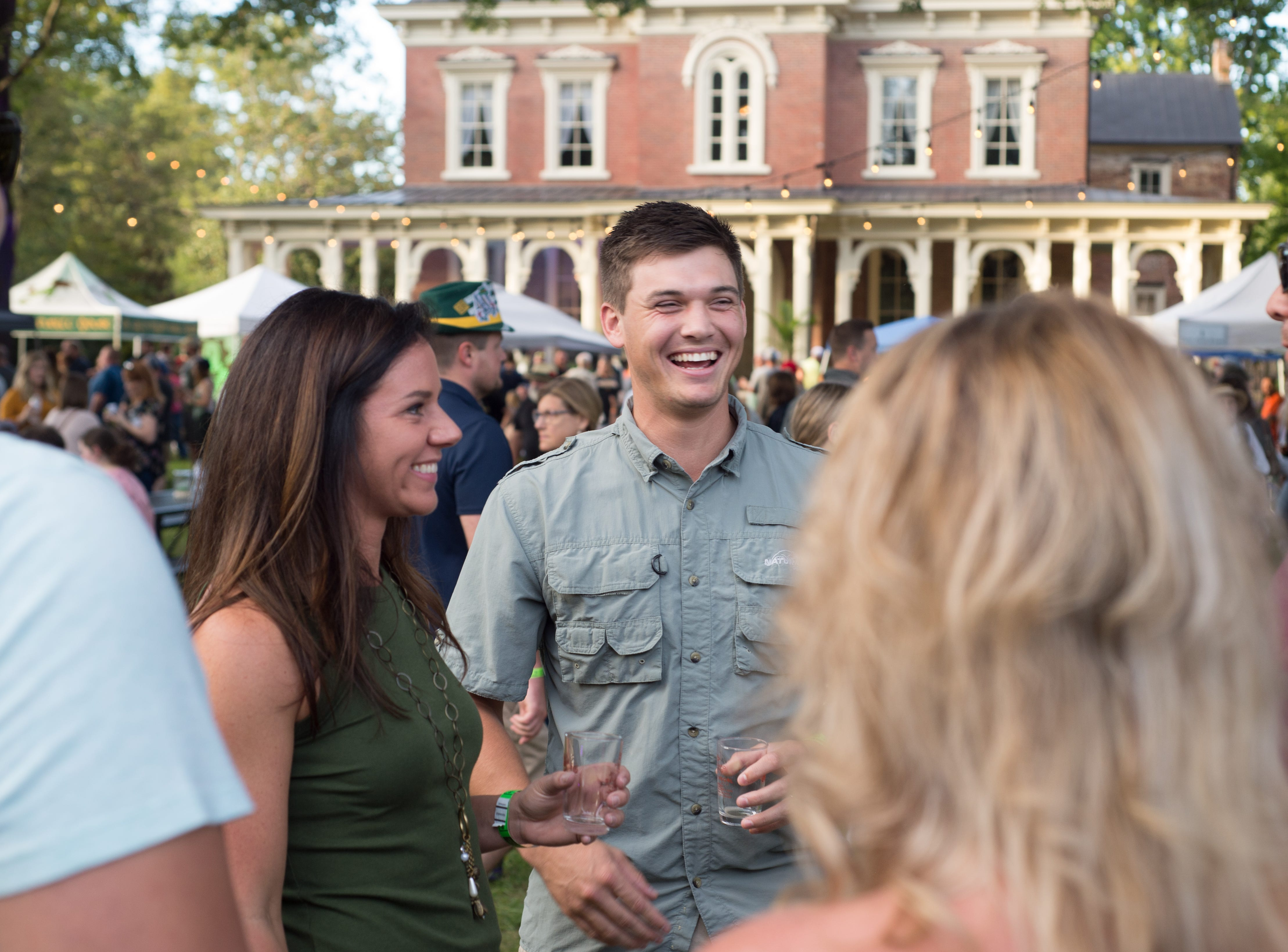 Connor Shea has a great time during Oktoberfest at Oaklands Mansion in Murfreesboro on Saturday, Sept. 29.