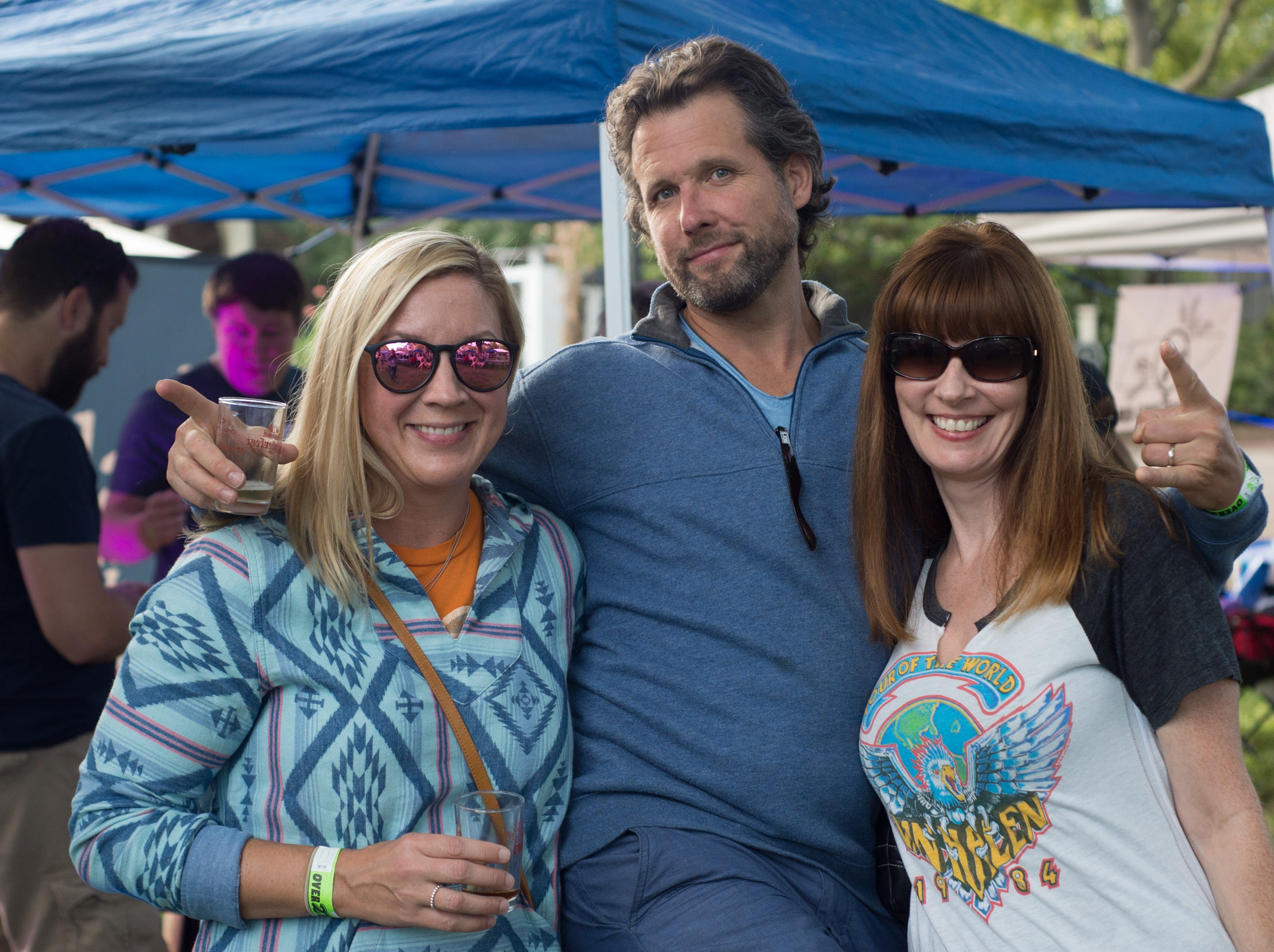Darla and Scott Enoch with Lori Hastings during Oktoberfest at Oaklands Mansion in Murfreesboro on Saturday, Sept. 29.
