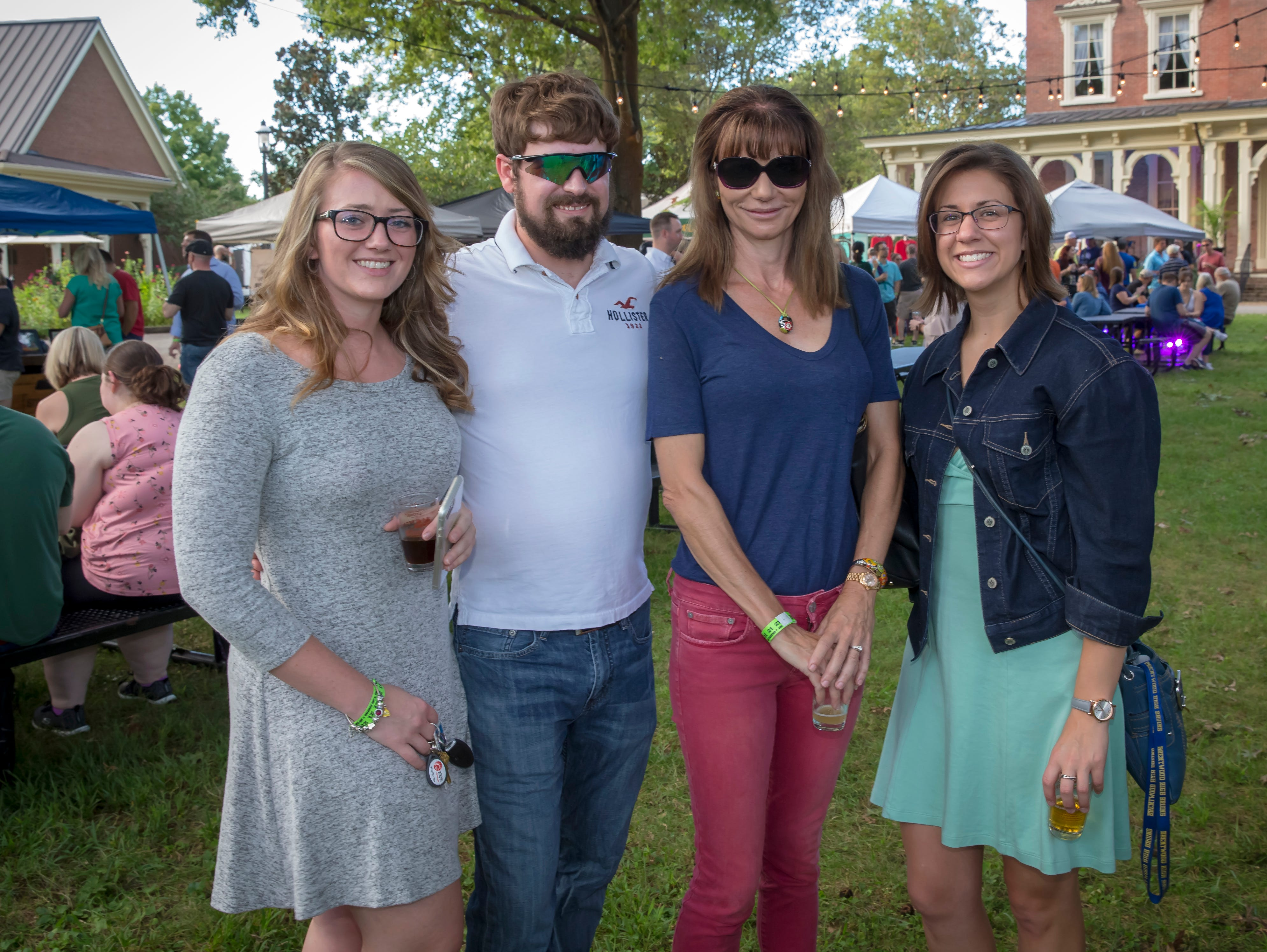 Stephanie Shanks, Andrew Kemp, Mary Sample and Brooke Klinefetter at the fourth-annual Oktoberfest held at Oaklands Mansion.Jim Davis/for the DNJ