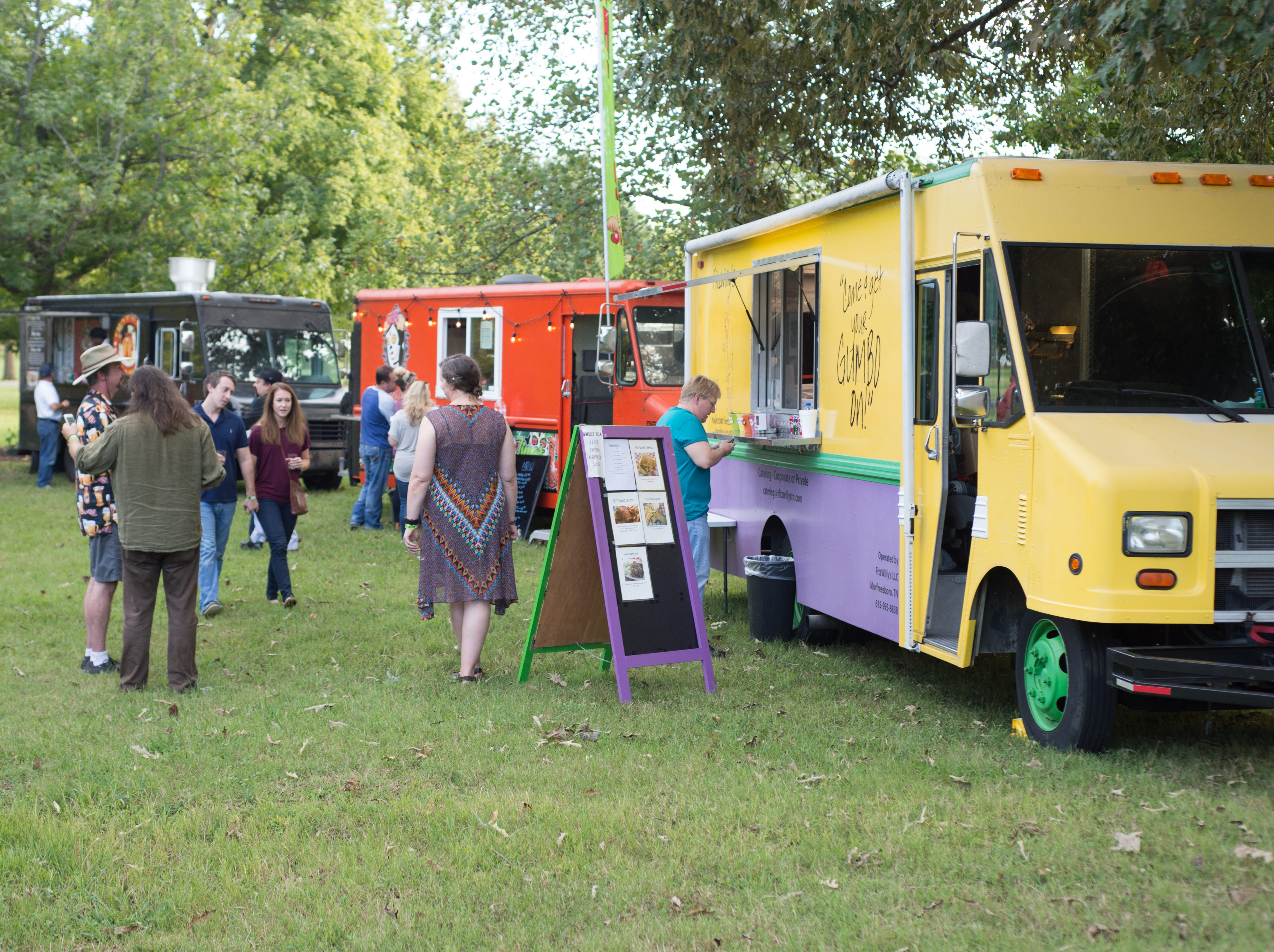 Food trucks add more flavor to Oktoberfest at Oaklands Mansion in Murfreesboro on Saturday, Sept. 29.