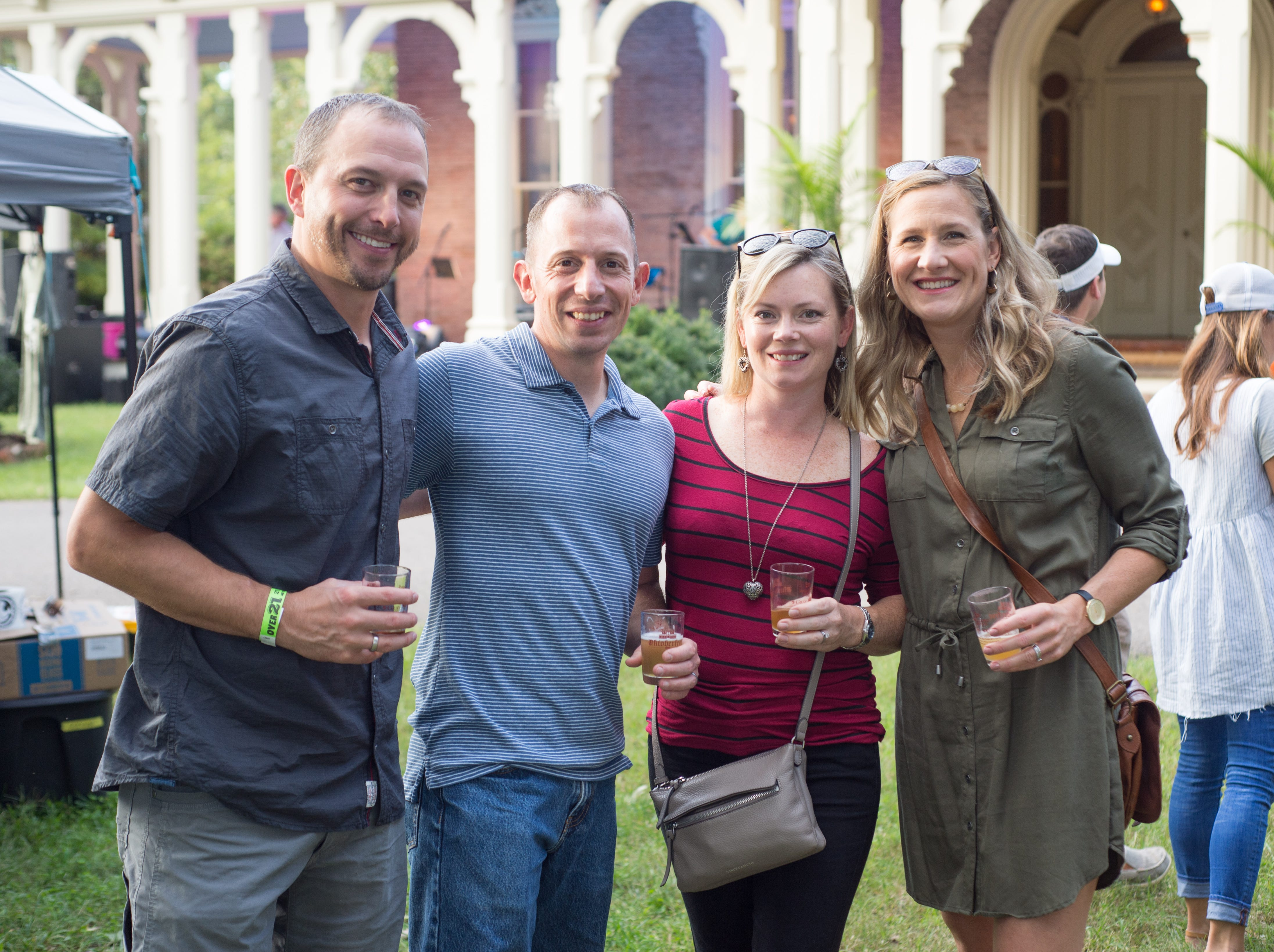 Greg Graham, Anthony and Jody Fontanetta and Kim Graham have fun during Oktoberfest at Oaklands Mansion in Murfreesboro on Saturday, Sept. 29.