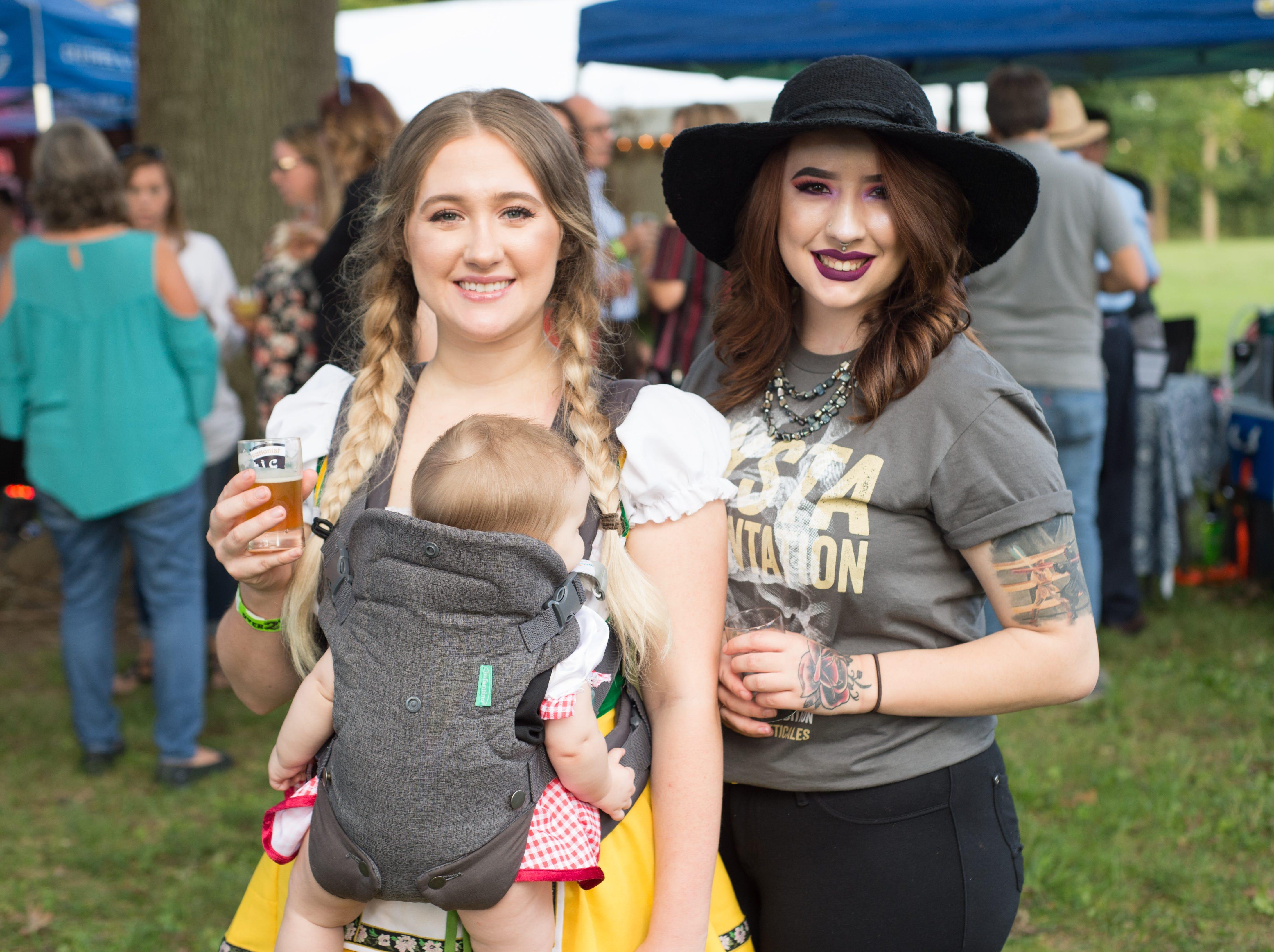 Hennessey Seitz with Ella and Brianna Hasz enjoy Oktoberfest at Oaklands Mansion in Murfreesboro on Saturday, Sept. 29.