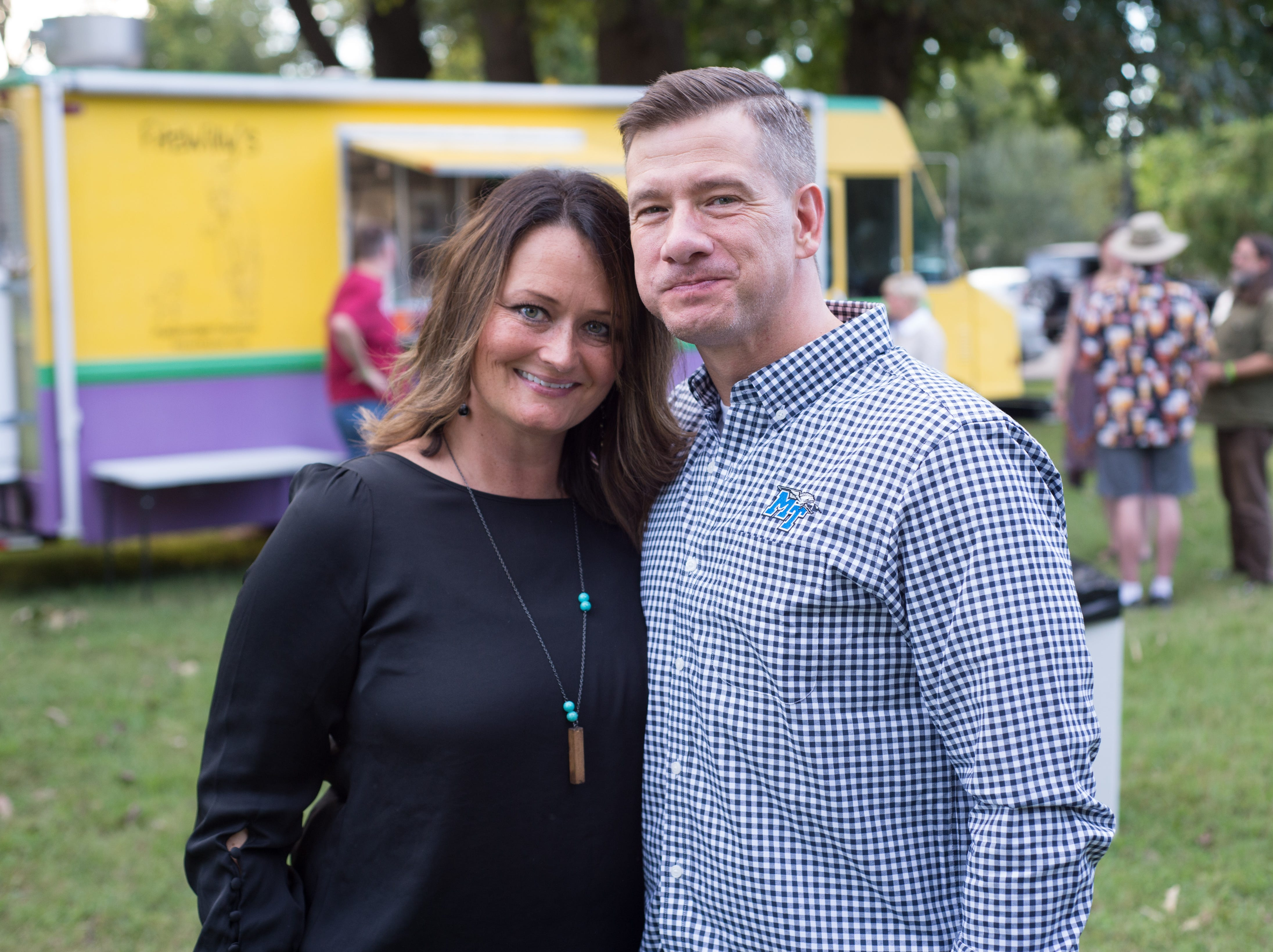 Cynthia and Ronnie Martin enjoy the Oktoberfest at Oaklands Mansion in Murfreesboro on Saturday, Sept. 29.
