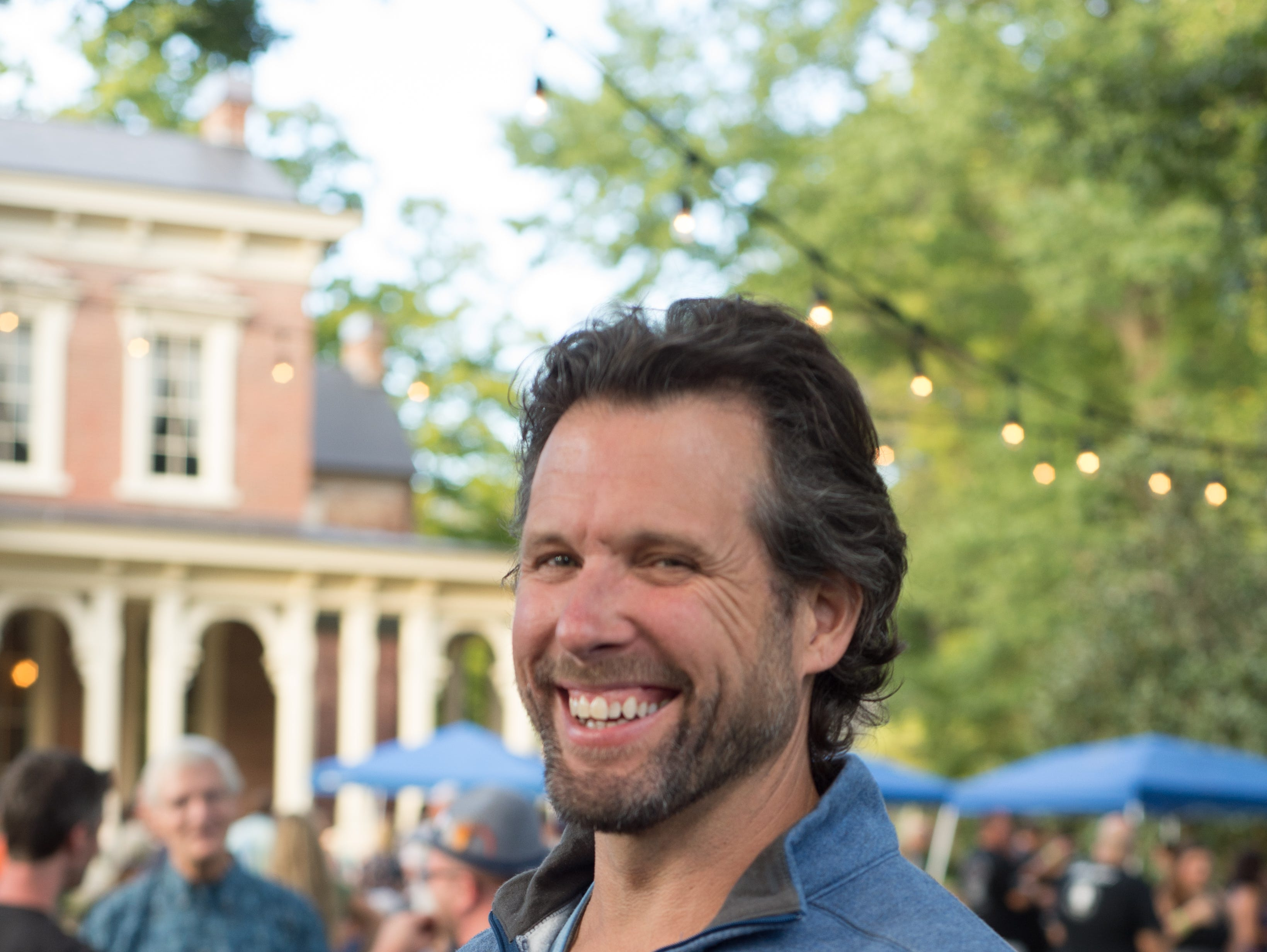 Scott Enoch has a good time during Oktoberfest at Oaklands Mansion in Murfreesboro on Saturday, Sept. 29.