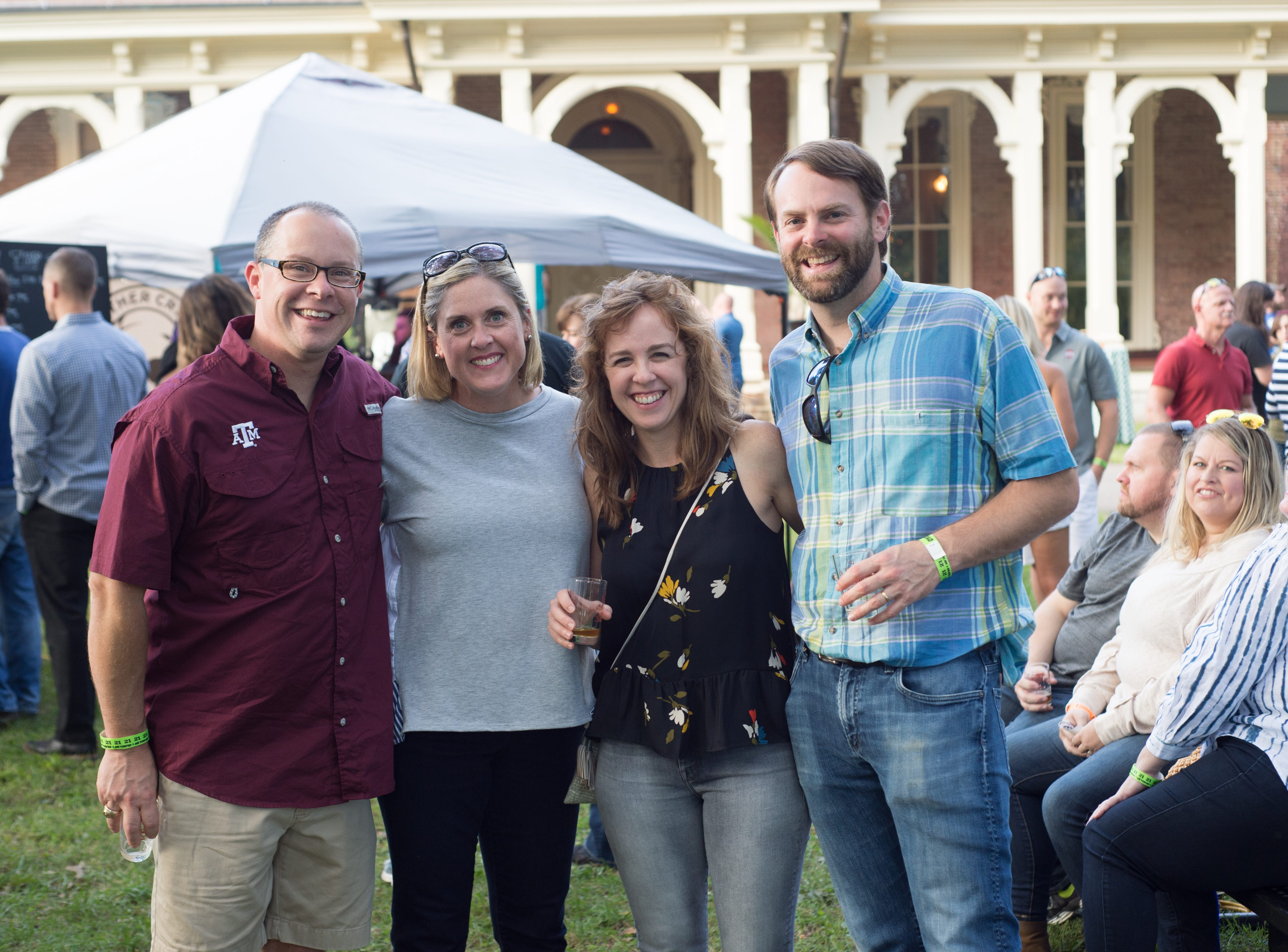 Chris and Amy Jackson and Leah and P.G. Banker enjoy Oktoberfest at Oaklands Mansion in Murfreesboro on Saturday, Sept. 29.