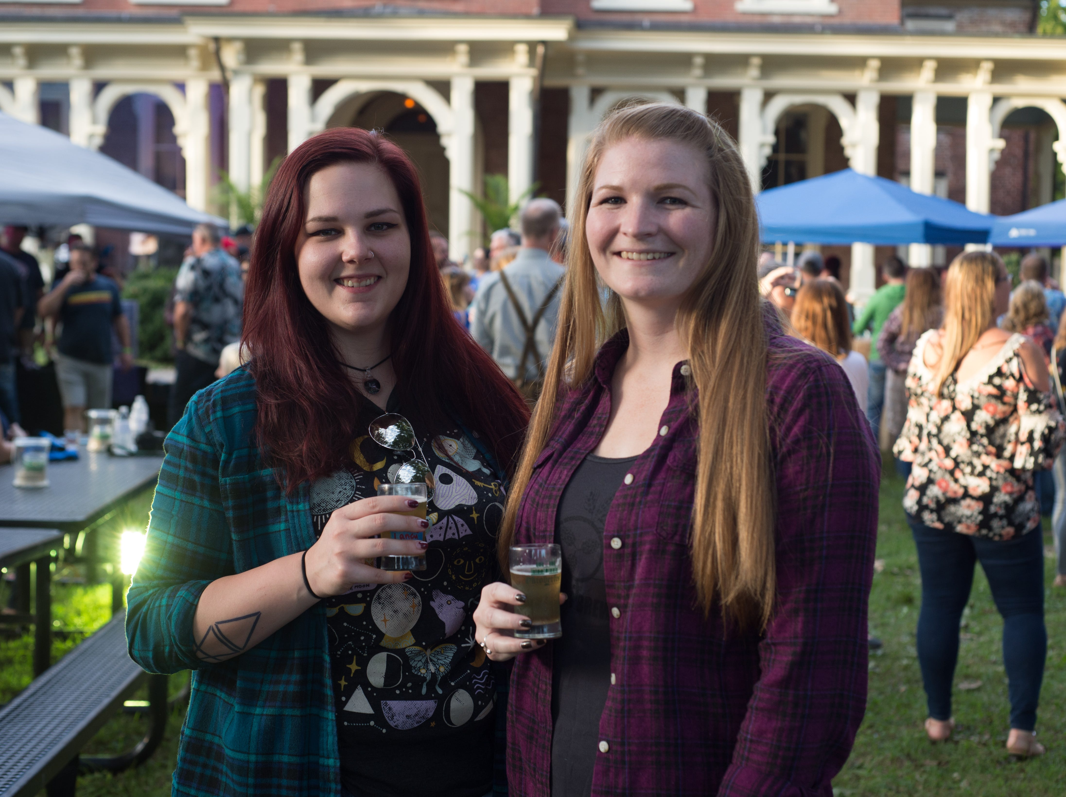 Laney Vaughn and Mary O'Neill enjoy Oktoberfest at Oaklands Mansion in Murfreesboro on Saturday, Sept. 29.