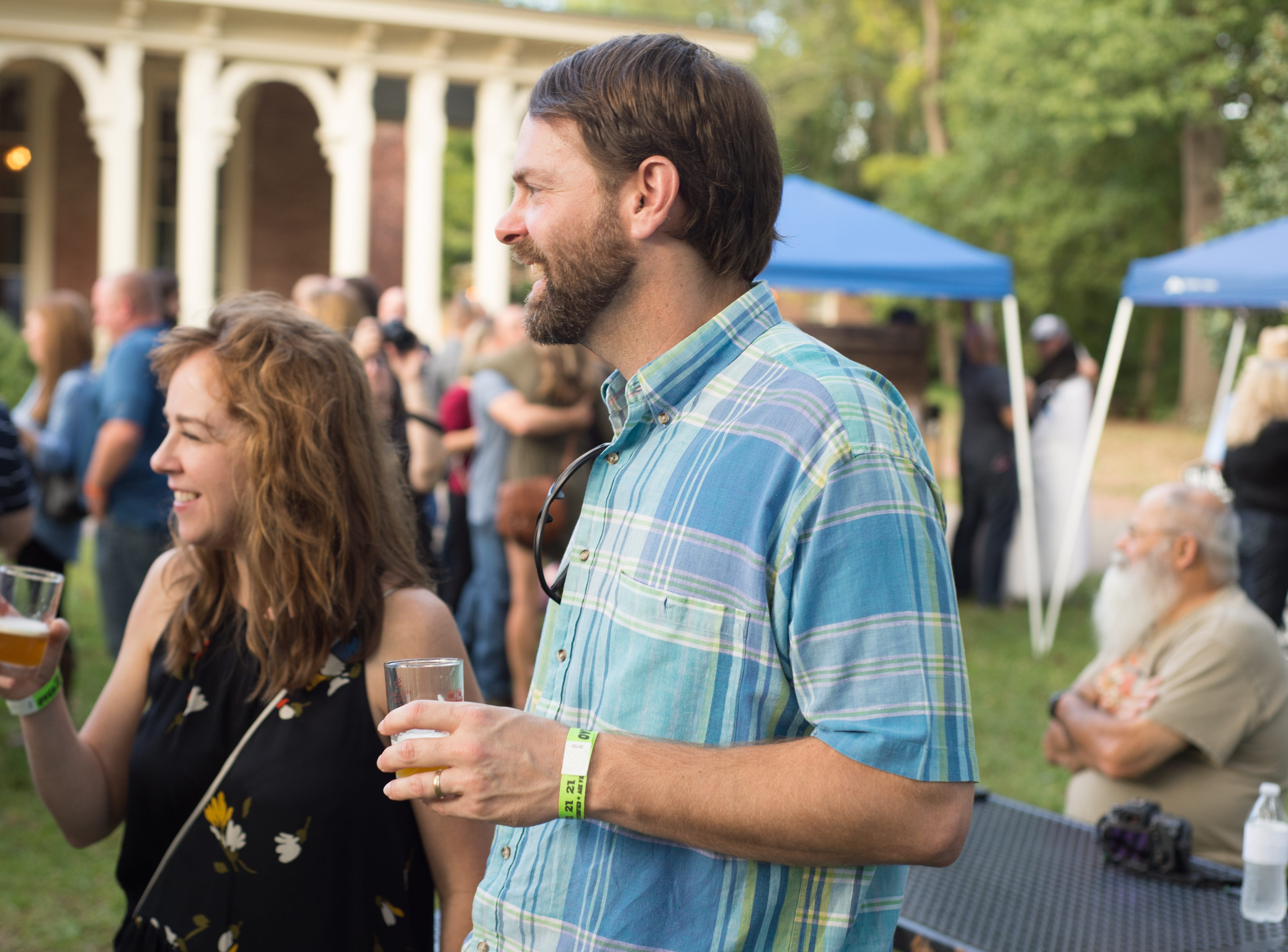 Leah and P.G. Banker enjoys Oktoberfest at Oaklands Mansion in Murfreesboro on Saturday, Sept. 29.