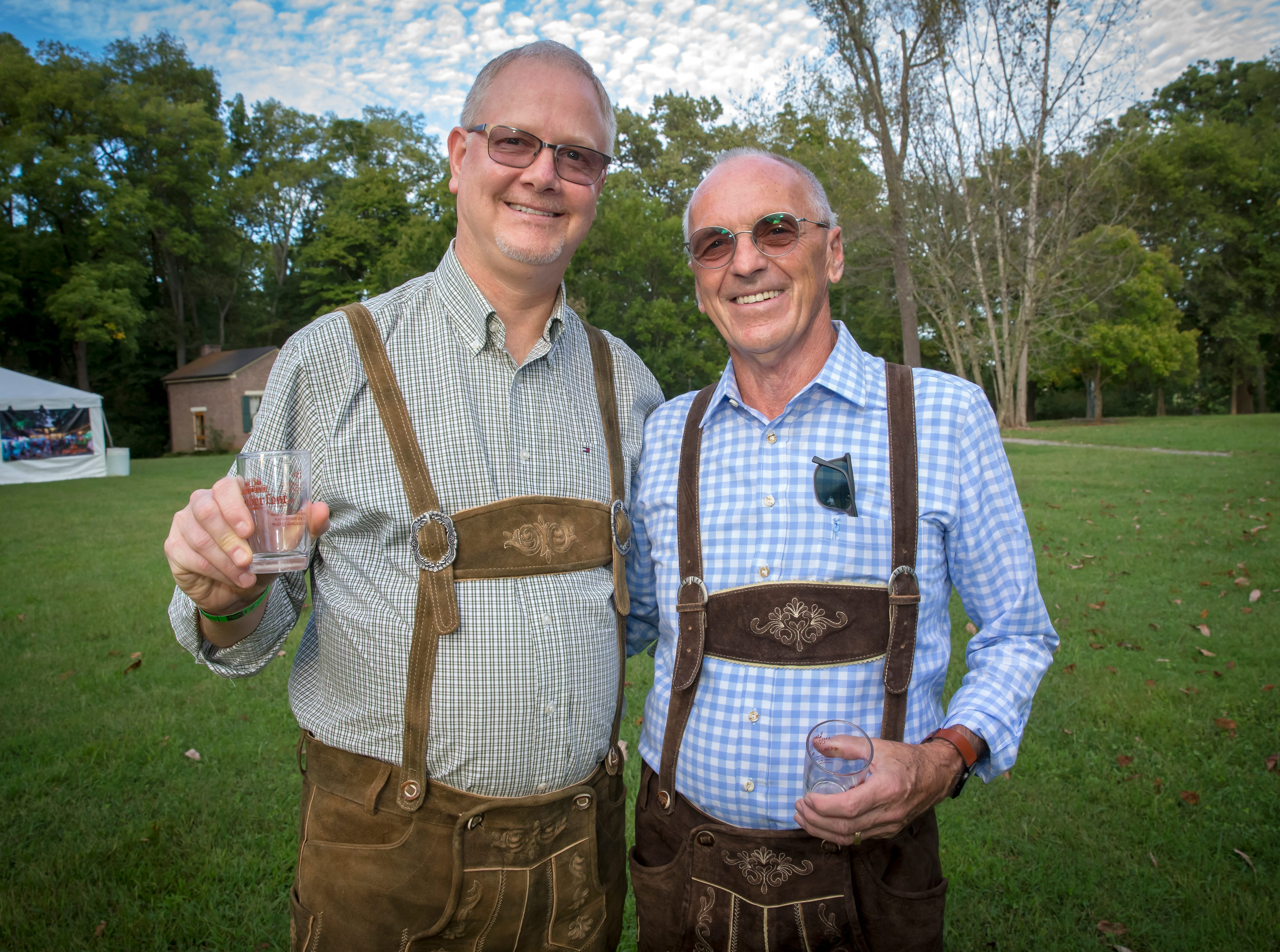 Harry Ristau and Darrell Harris at the fourth-annual Oktoberfest held at Oaklands Mansion.Jim Davis/for the DNJ