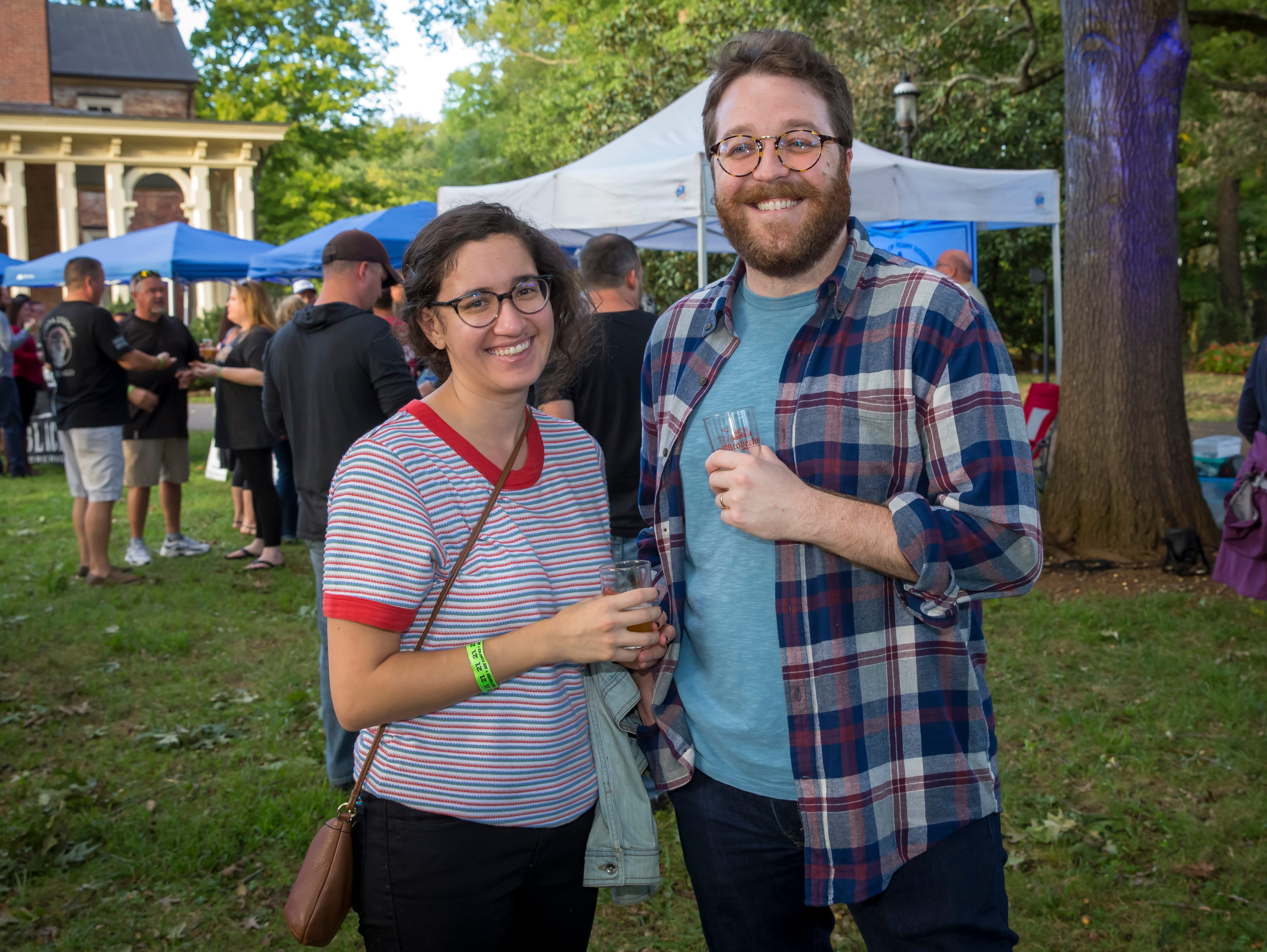 Lauren Gallina and Rob Wilson at the fourth-annual Oktoberfest held at Oaklands Mansion.Jim Davis/for the DNJ