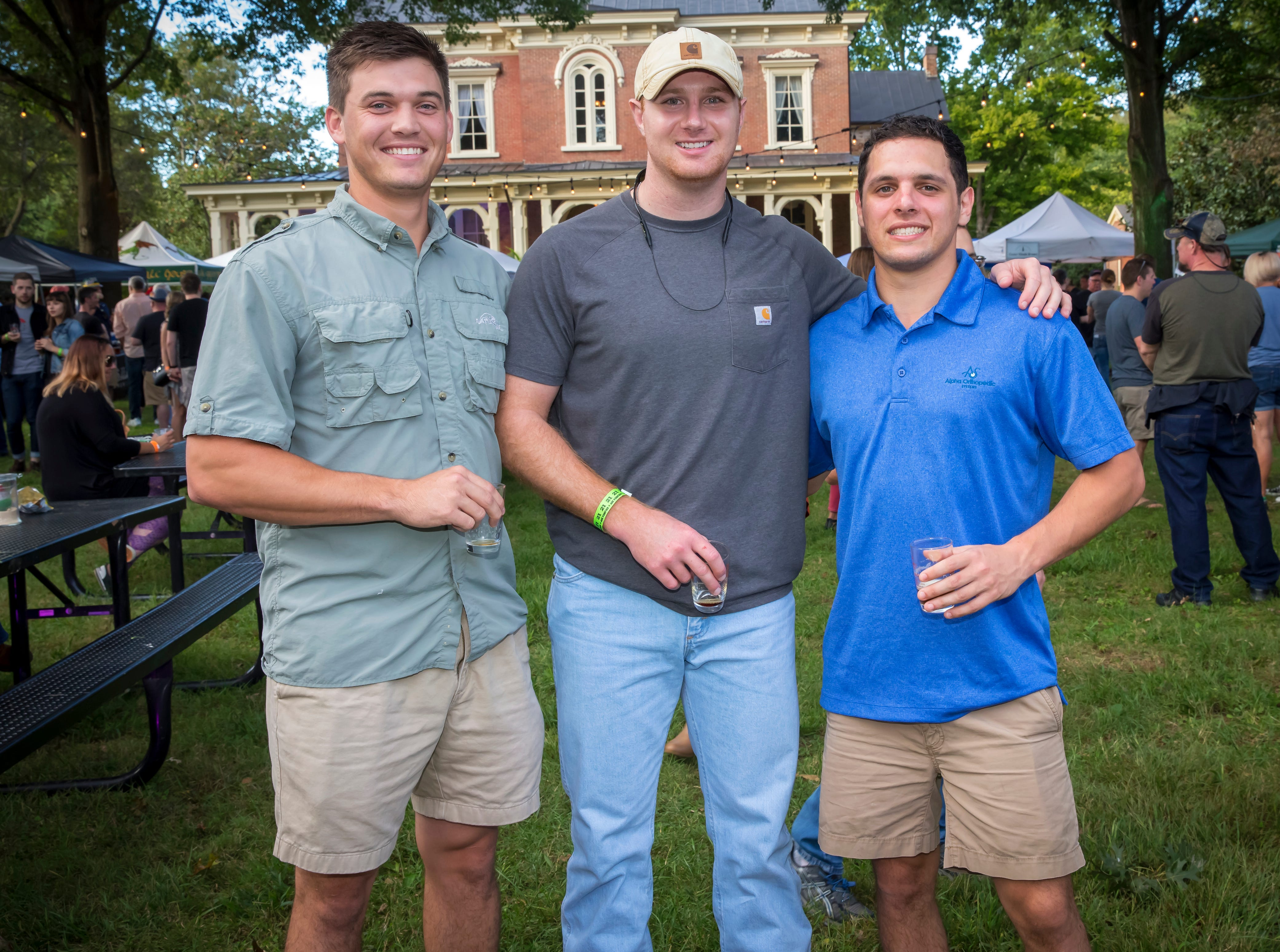 Connor Shea, Garrett Frould and Willis Keeton at the fourth-annual Oktoberfest held at Oaklands Mansion.Jim Davis/for the DNJ