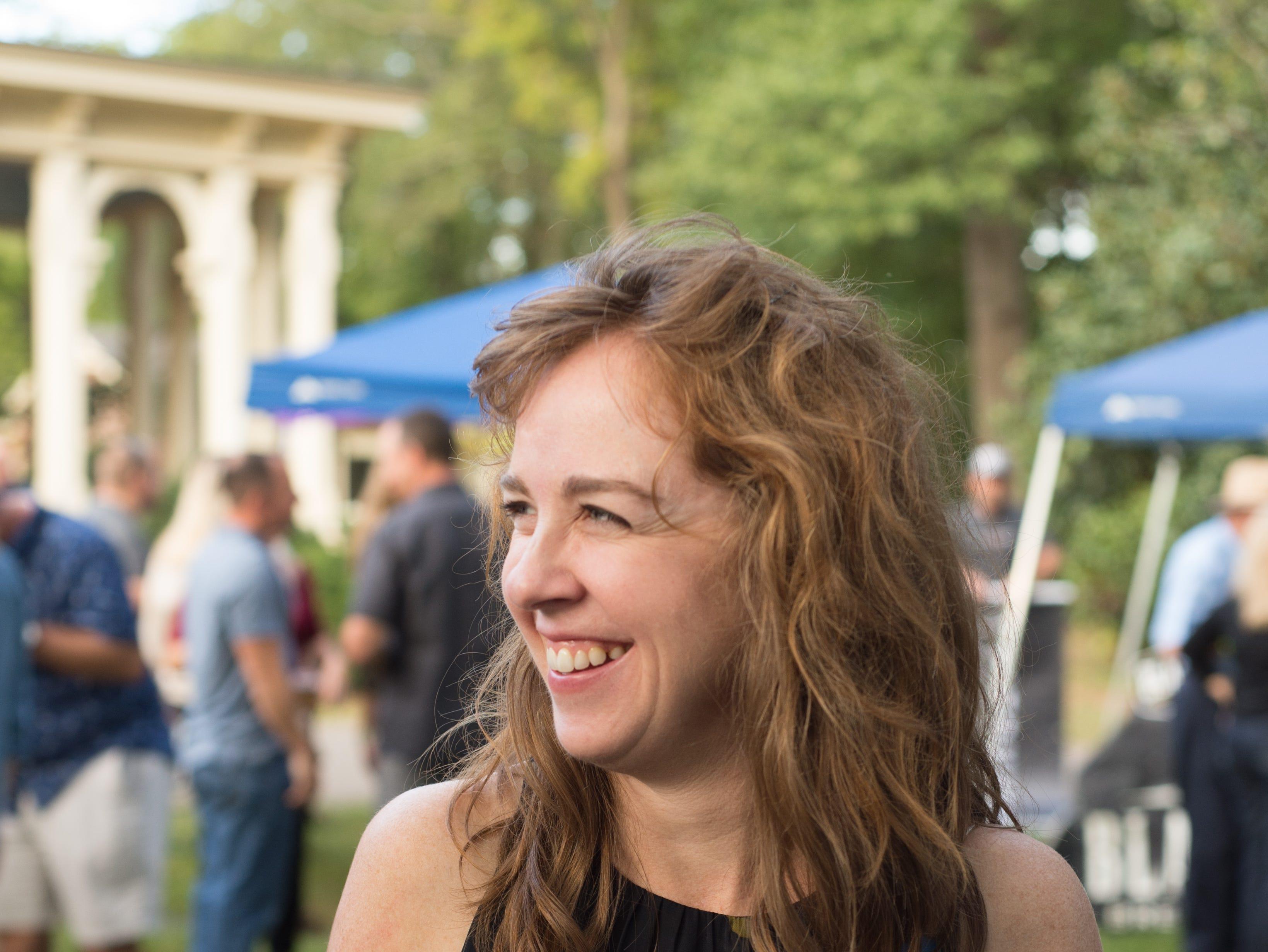 Leah Banker enjoys Oktoberfest at Oaklands Mansion in Murfreesboro on Saturday, Sept. 29.