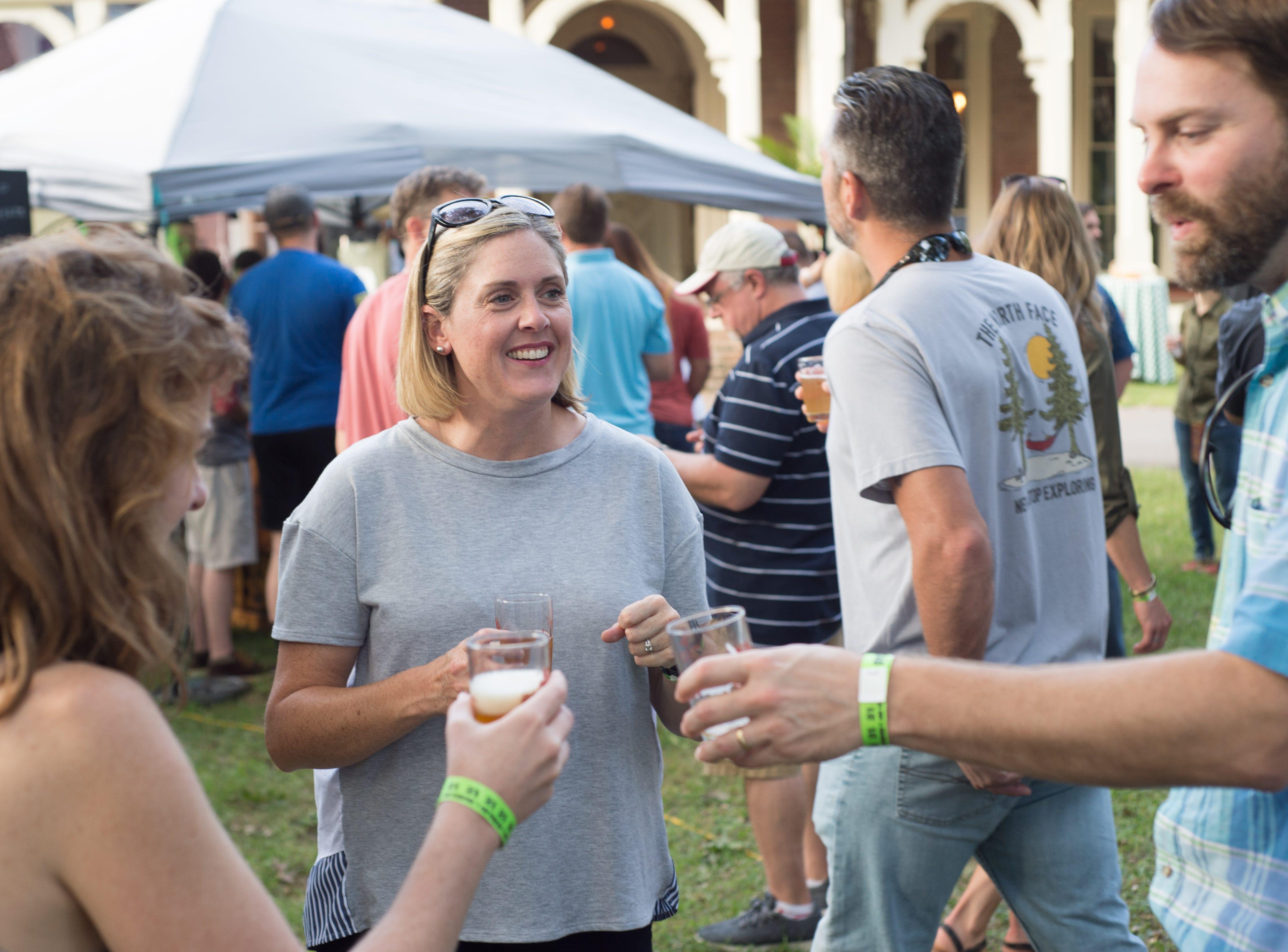 Amy Jackson has fun at Oktoberfest at Oaklands Mansion in Murfreesboro on Saturday, Sept. 29.