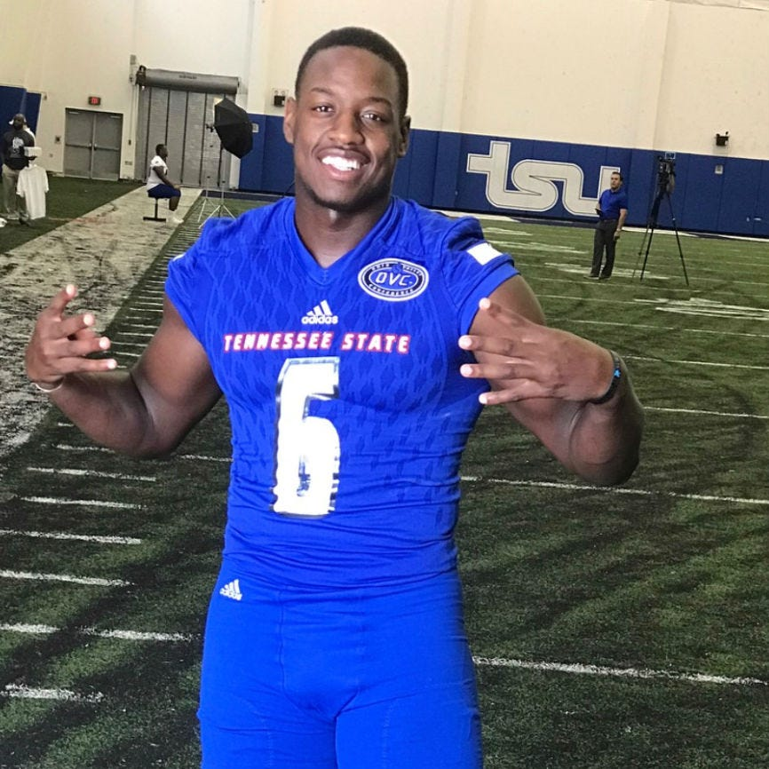 Injured TSU player Christion Abercrombie is now breathing on his own